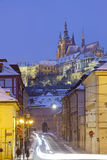 Prague in winter Stock Images