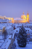 Prague in winter Royalty Free Stock Photos