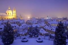 Prague in winter Stock Image