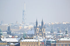 Prague at winter Stock Images