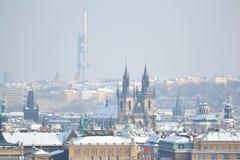 Prague at winter Stock Images