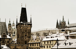 Prague in the winter Stock Image
