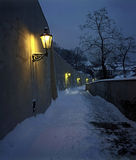 Prague - winter staircase to the castle Stock Photos