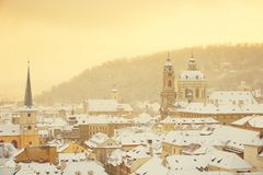 Prague winter Stock Photos