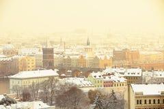 Prague winter Royalty Free Stock Images
