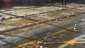 Pragues half marathon race stock video footage