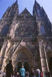 Praha-город: Башни церков St Vitus Стоковое Изображение RF