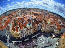 Praha - панорамный взгляд Стоковые Изображения RF