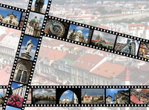 Praha. Film strips with travel photos. Prague, Czech Republic. All photos taken by me, filmstrip illustration made by me Stock Photography