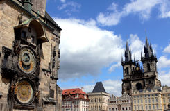 Praha. Center city  in summer day Royalty Free Stock Images