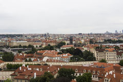 Praha city view panorama stock image