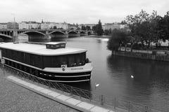 Praha city view River Stock Photo