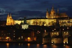 Praha crépusculaire Photo stock