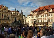 Praha crowded city center. Royalty Free Stock Photography
