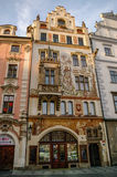 Praha, Czech Republic, May 10, 2012: Houses on Old Town Square i. N Prague Royalty Free Stock Image