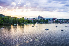 Praha Landscape panorama View Colors Stock Photo