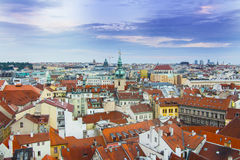 Praha Landscape panorama View Colors Royalty Free Stock Photos