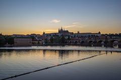 Praha linia horyzontu w republika czech obrazy stock