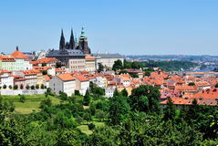 Praha, Mala strana and St. Vitus' Cathedral. Praha, Czech Republic . Mala strana and St. Vitus' Cathedral. View from Petrzin hill Royalty Free Stock Image