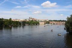 Praha miasta widoku krajobraz Obraz Stock