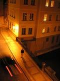 Praha nacht Stock Fotografie