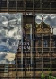Praha National Museum in the Czech Republic with reflections Royalty Free Stock Photo