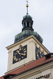 Praha stad/klocka Royaltyfri Foto