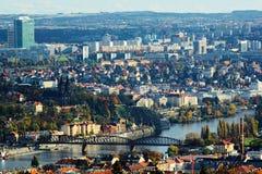 Praha Vltava Visegrà ¡ D Arkivfoton