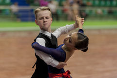Prahov Ivan and Sackevich Ekaterina Perform Juvenile-1 Standard European Program on National Championship Royalty Free Stock Images