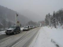 在Prahova区的交通堵塞 免版税库存照片