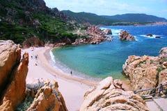Praia 2 de Li Cossi imagens de stock