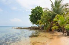 Praia abandonada Fotografia de Stock