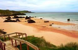 Praia abandonada Imagens de Stock
