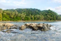 Praia abandonada Nido da ilha do EL Foto de Stock