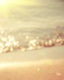 Praia abstrata fundo borrado Fotografia de Stock
