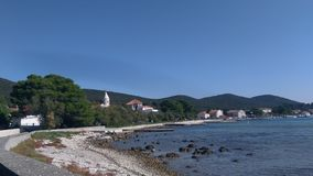Praia agradável na ilha fotografia de stock