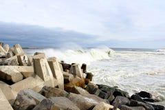 Praia agradável NJ do ponto de Oceano Atlântico Fotografia de Stock Royalty Free