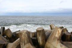 Praia agradável NJ do ponto de Oceano Atlântico Foto de Stock