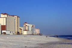 Praia alaranjada Foto de Stock