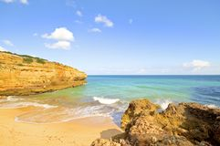 Praia Albandeira in the Algarve Portugal Stock Photos