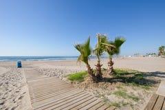 Praia Almadraba em Benicassim imagens de stock