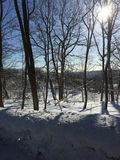 Praia alpina no Mohawk de negligência do lago winter Foto de Stock Royalty Free