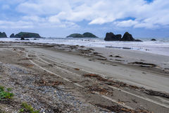 Praia, Ancud, ilha de Chiloe, o Chile fotografia de stock royalty free