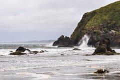 Praia, Ancud, ilha de Chiloe, o Chile fotos de stock
