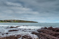 A praia antes da tempestade Imagens de Stock Royalty Free