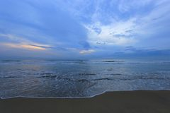 Praia após o por do sol Foto de Stock Royalty Free