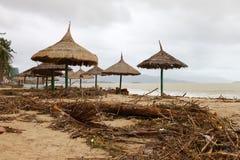 Praia após a tempestade Fotos de Stock Royalty Free