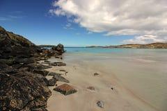 Praia após a tempestade, ilha de Balthos de Lewis Scotland Foto de Stock