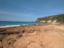 Praia Aquadillia Porto Rico de Borinquen foto de stock
