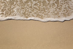 Praia, areia, férias e fundo do mar Imagens de Stock
